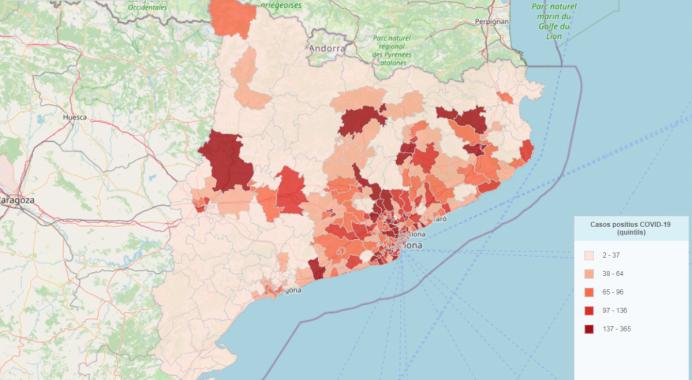 El Covid-19 parece acelerarse en Cataluña
